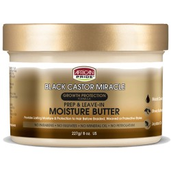 African Pride Black Castor Prep & Leave-in Moisture Butter 8oz