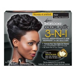 Luster's Shortlooks Colorlaxer  3-N-1 Black