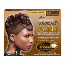 Luster's Shortlooks Colorlaxer 3-N-1 Brown