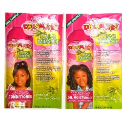 African Pride Dream Kids Olive Miracle Conditioner and Oil Moisturizing 2 Pack