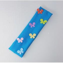 Blauwe Haarband met vlinders