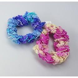 Scrunchie set blauw en roze
