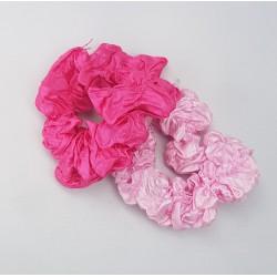 Scrunchies 2 stuks roze en lichtroze