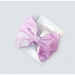 Haarspeld roze strik