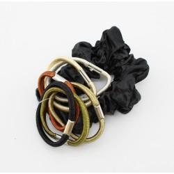 Scrunchie zwart met elastiek