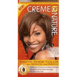 Creme of Nature Argan Oil Exotic Shine Hair Color 7.3 Medium Warm Brown