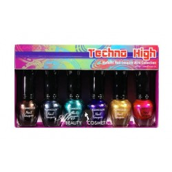 Techno High Metallic Nail Polish Mini Collection