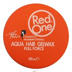 Red One Aqua Hair Gelwax Full Force Orange