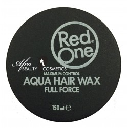Red One Aqua Hair Gel Wax Full Force Dark Grey with Red Line