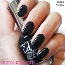 Kleancolor Gel Effect Nailpolish G005 Black