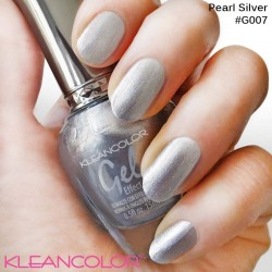 Kleancolor Gel Effect Nailpolish G007 Pearl Silver
