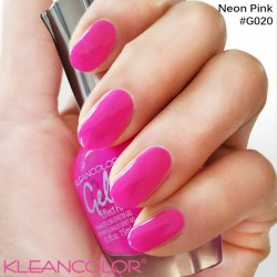 Kleancolor Gel Effect Nailpolish G020 Neon Pink