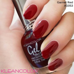 Kleancolor Gel Effect Nailpolish G053 Garnet Red