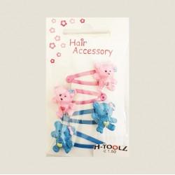 Haarspeld met Beertjes Roze en Blauw C-1