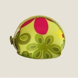 Mini Etui met bloemopdruk basis Groen
