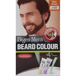 Bigen Men's Beard Colour Dark Brown B103