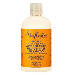 Shea Moisture baobab & tea tree oils low porosity protein-free shampoo