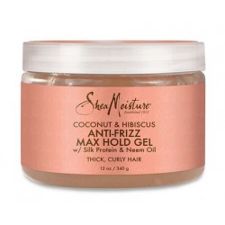 Shea Moisture coconut & hibiscus anti-frizz max hold gel